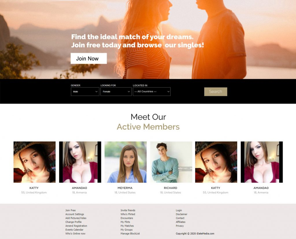 Dating Software Demo